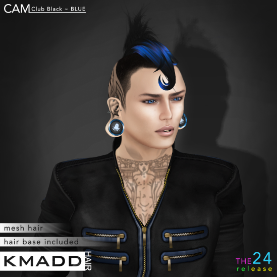 KMADD Hair ~ CAM Club Black ~ BLUE