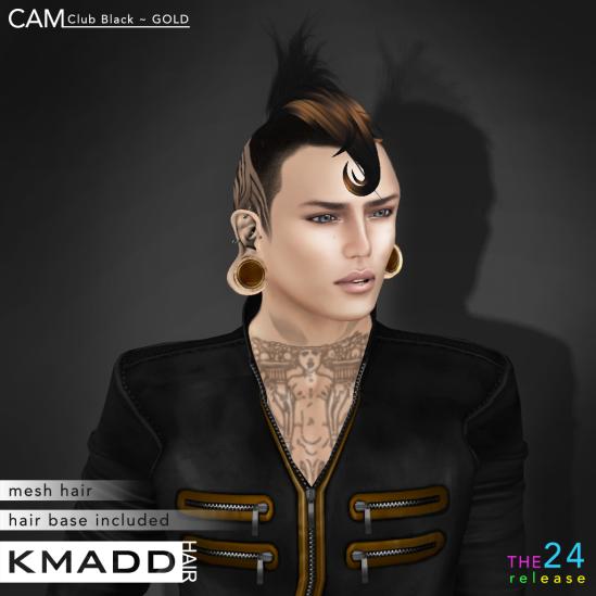KMADD Hair ~ CAM Club Black ~ GOLD