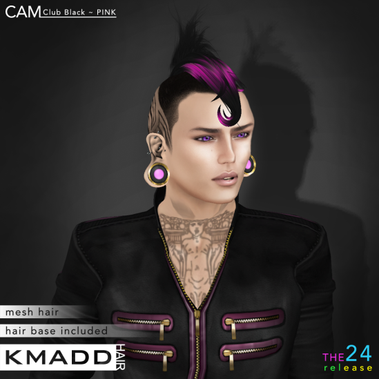 KMADD Hair ~ CAM Club Black ~ PINK