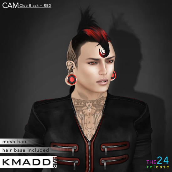 KMADD Hair ~ CAM Club Black ~ RED