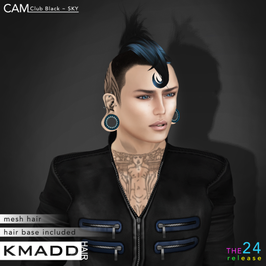 KMADD Hair ~ CAM Club Black ~ SKY