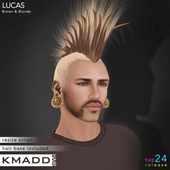 KMADD Hair ~ LUCAS ~ Brown & Blonde