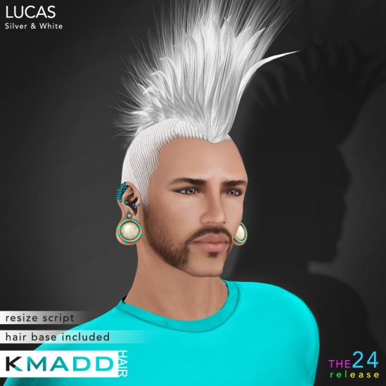 KMADD Hair ~ LUCAS ~ Silver & White