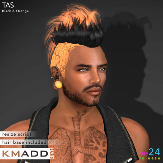 KMADD Hair ~ TAS ~ Black & Orange