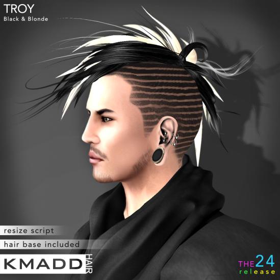 KMADD Hair ~ TROY ~ Black & Blonde
