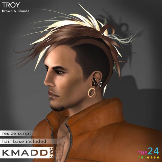 KMADD Hair ~ TROY ~ Brown & Blonde