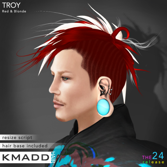 KMADD Hair ~ TROY ~ Red & Blonde