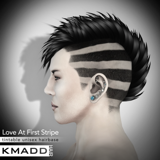 KMADD Hairbase ~ Love At First Stripe