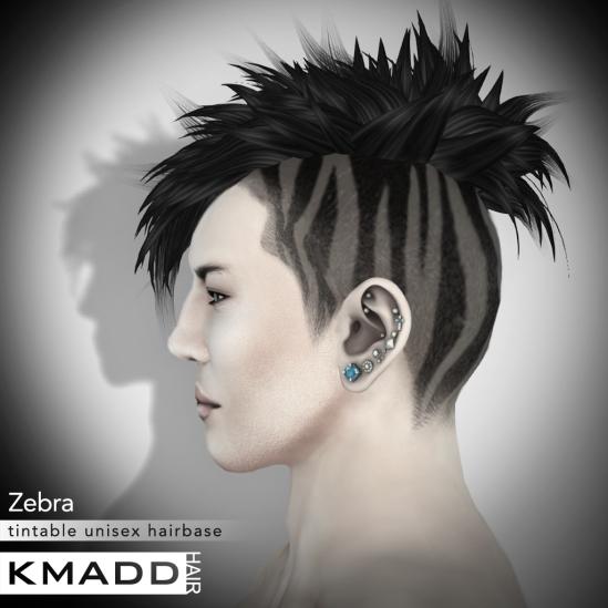 KMADD Hairbase ~ Zebra