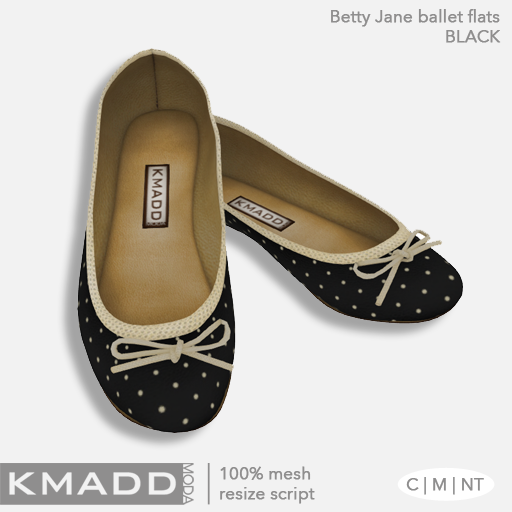 KMADD Moda ~ Betty Jane ~ Black