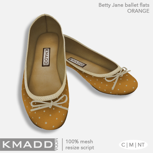 KMADD Moda ~ Betty Jane ~ Orange