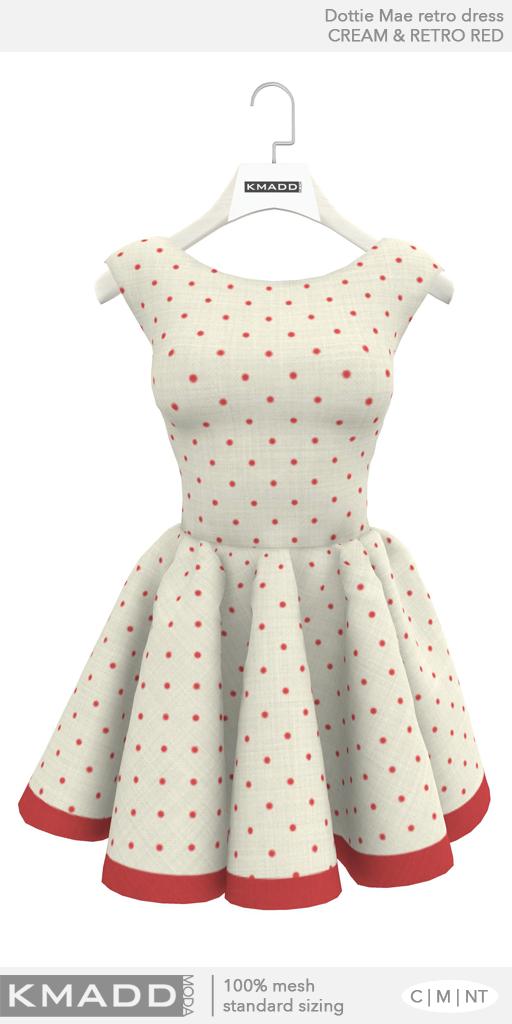 KMADD Moda ~ Dottie Mae ~ Cream & Retro Red