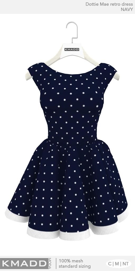 KMADD Moda ~ Dottie Mae ~ Navy