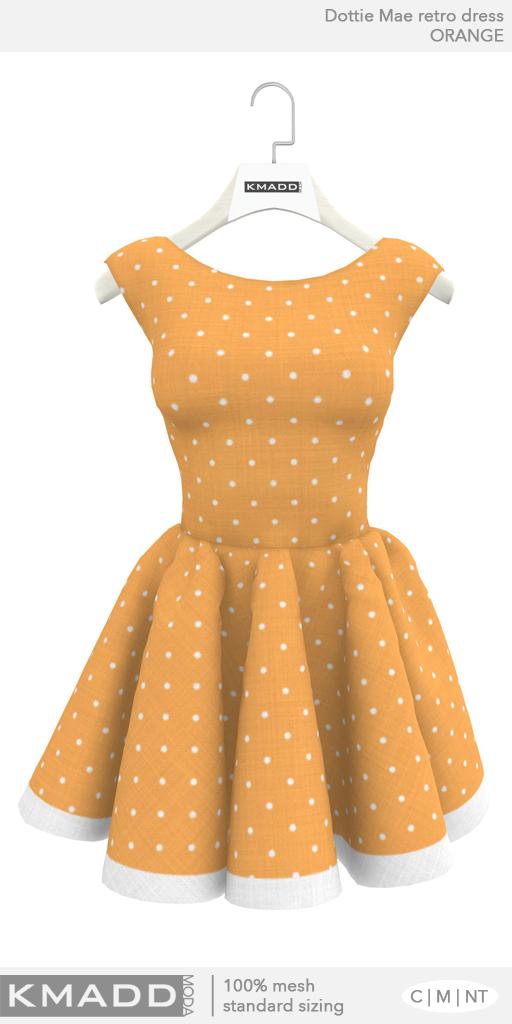 KMADD Moda ~ Dottie Mae ~ Orange