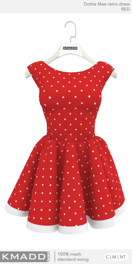KMADD Moda ~ Dottie Mae ~ Red
