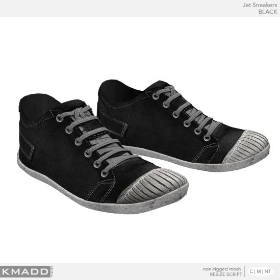 KMADD Moda ~ Jet Sneakers ~ BLACK