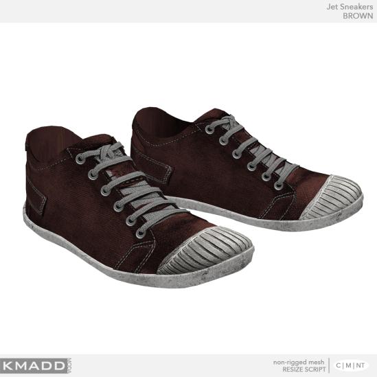 KMADD Moda ~ Jet Sneakers ~ BROWN