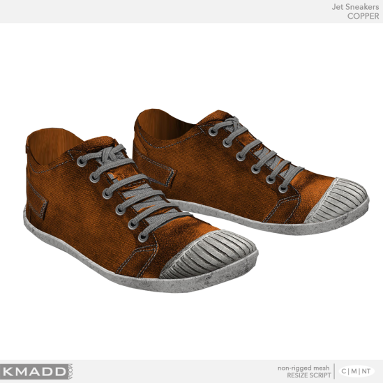 KMADD Moda ~ Jet Sneakers ~ COPPER