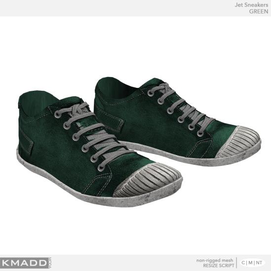 KMADD Moda ~ Jet Sneakers ~ GREEN