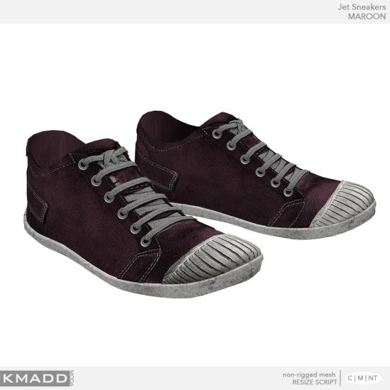 KMADD Moda ~ Jet Sneakers ~ MAROON