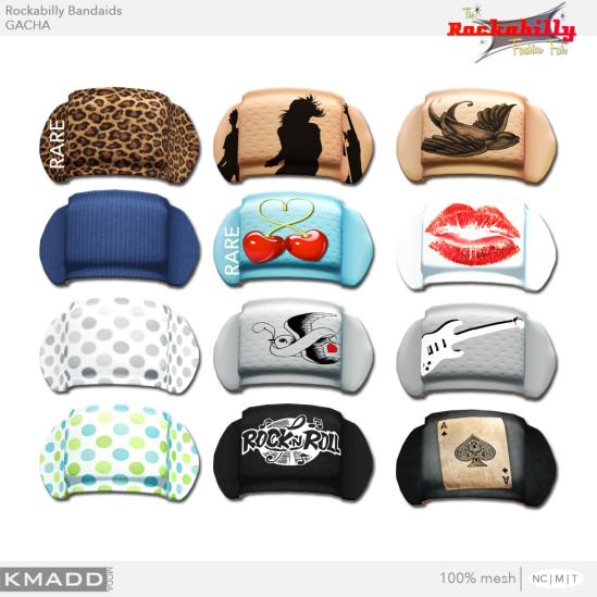 KMADD Moda ~ Rockabilly Bandaids Gachas
