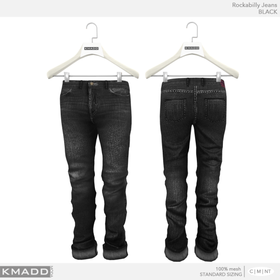 KMADD Moda ~ Rockabilly Jeans ~ BLACK