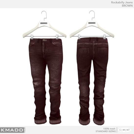 KMADD Moda ~ Rockabilly Jeans ~ BROWN