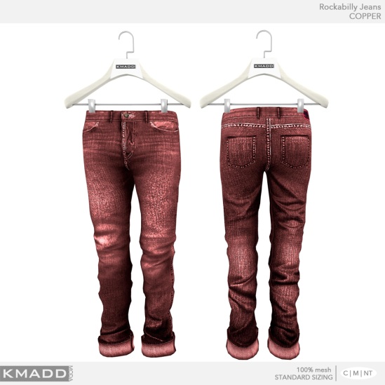 KMADD Moda ~ Rockabilly Jeans ~ COPPER