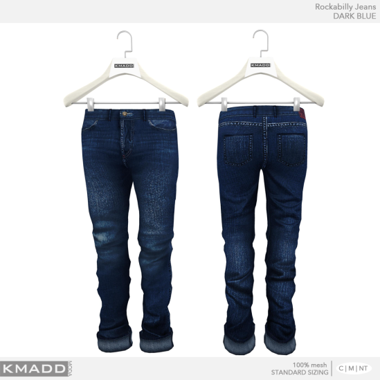 KMADD Moda ~ Rockabilly Jeans ~ DARK BLUE