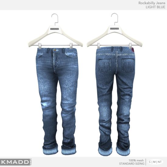KMADD Moda ~ Rockabilly Jeans ~ LIGHT BLUE